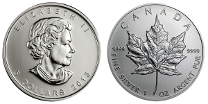 1 oz Maple Leaf Silver coin