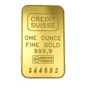 1 oz gold Credit Suisse bar